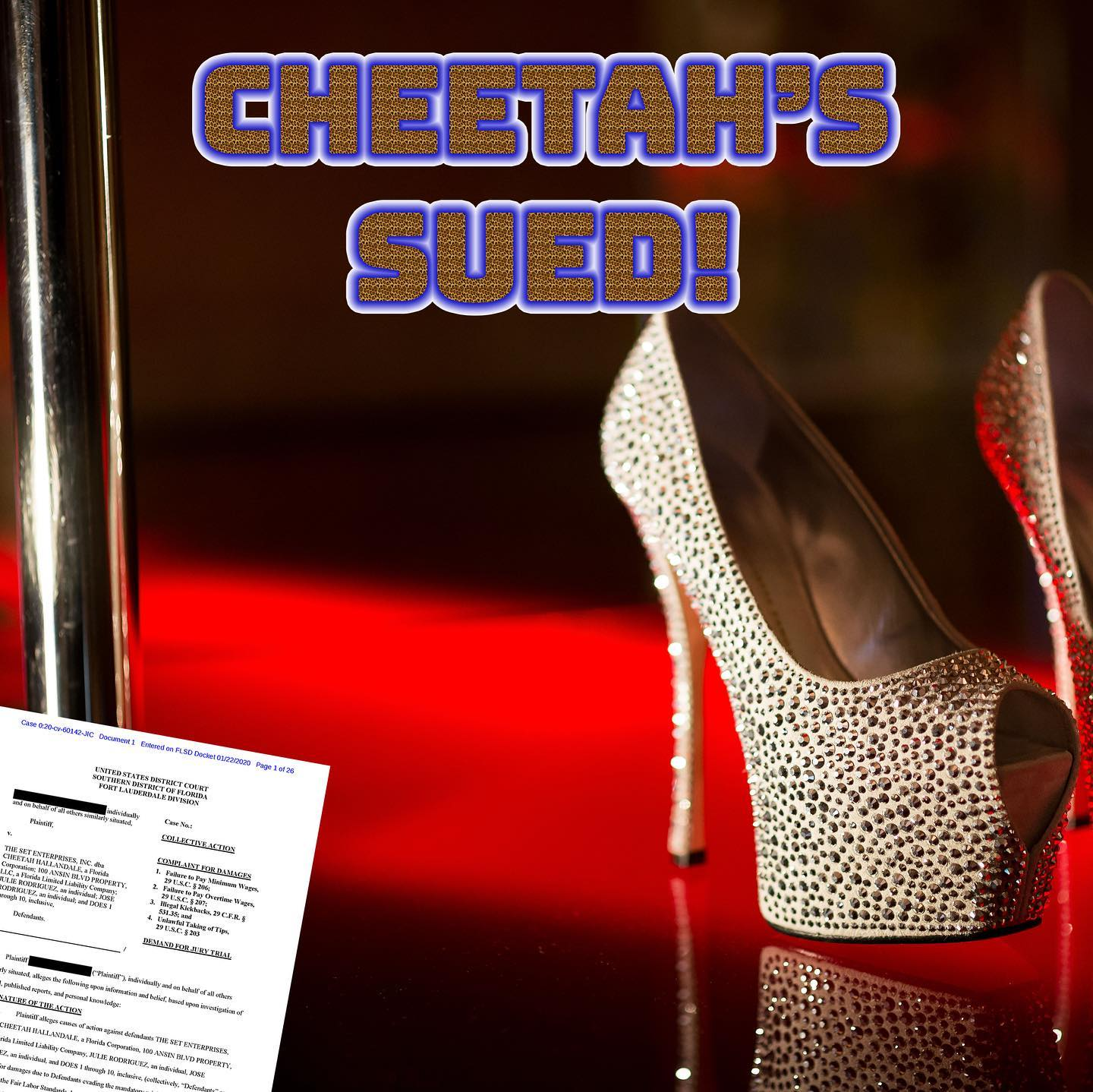 Kristensen LLP Files Federal Lawsuit Against Cheetah's in Hallandale in Federal Court